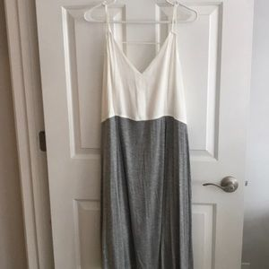 Light and airy summer dress. Grey and white